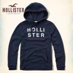 クリスマスセール  ホリスター パーカー メンズ プルオーバー フ―ディー HOLLISTER Logo Graphic Fleece Hoodie 62410 ネイビー