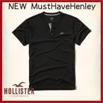 ショッピングホリスター ホリスター HOLLISTER Tシャツ メンズ 新作 ヘンリー 半袖 new Must-Have Henley 62381 ブラック