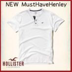 ショッピングホリスター ホリスター HOLLISTER Tシャツ メンズ 新作 ヘンリー 半袖 new Must-Have Henley 62381 ホワイト