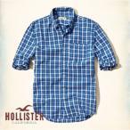 ショッピングホリスター ホリスター メンズ 長袖 シャツ ボタンダウン カジュアル Patterned Poplin Shirt 61923 ブルー