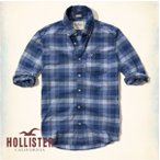 ショッピングホリスター ホリスター HOLLISTER メンズ 長袖 ボタンダウン Plaid Poplin Shirt 62372  チェック ブルー