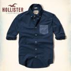 ショッピングホリスター ホリスター HOLLISTER メンズ 長袖 ボタンダウン Solid Poplin Shirt 62391 ネイビー