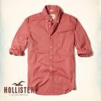 ショッピングホリスター ホリスター HOLLISTER メンズ 長袖 ボタンダウン stretch Poplin Shirt 62674 レッド