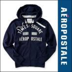 エアロポステール パーカー メンズ フーディーAEROPOSTALE アップリケ Times Square Logo Full-Zip Hoodie  (6023) ネイビー