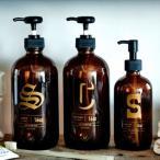 Boston Round Dispencer/ボストンラウンドディスペンサー詰め替えボトル ガラス 薬瓶 シャンプー コンディショナー ボディーソープ