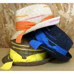 在庫処分【SHIGEMATSU/シゲマツ】麦ブレードカラフル中折れハット 299F7084 57.5cm レディース 帽子