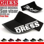 ドレスDRESS  サンバイザー LD-OP-0560 ブラック レッド