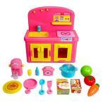 (イケダ) ちいさなおままごとセット 490117 003657 おままごと ごっこあそび キッチン セット 子供 女の子 室内遊び おもちゃ