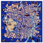 地図 東京-江戸東京散策図- 送料無料 風呂敷 着物 手ぬぐい