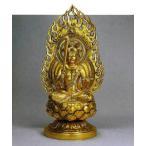 八体仏 文珠菩薩   74-53 長田晴山 床の間 置物 仏具 仏像 銅像