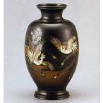 12号 鳳祥 鳳凰   100-58 花瓶 花器 床の間 置物 銅製 ブロンズ