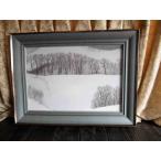掛け軸 絵画 東山魁夷 冬の旅 「ふゆのたび」 掛軸