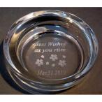 名前ロゴ入りガラス灰皿 開店祝誕生日の贈り物退職記念品開店祝い周年記念品退職祝卒団記念品