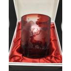 砂切子名入れグラス 鹿と森の風景グラス 還暦祝い退職祝先生への記念品古希祝い喜寿祝傘寿祝母の日ギフト