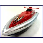HT◇安全ストップ機能付スピードボート型ラジコン船/レッド 40MhzRC