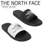ノースフェイス スリッパ THE NORTH FACE メンズ レディース APEX SLIDE EX エイペックス スライド EX BLACK WHITE NS98K09J/K/A/B NS98J09B シューズの画像