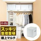 クローゼット 棚上 マルチ 収納袋 1個 衣類用 ホワイト  [2] マルチ収納 衣装ケース 上 収納 収納ケース 小物収納 布団収納袋