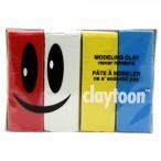 MODELING CLAY(モデリングクレイ) claytoon(クレイトーン) カラー油粘土 4色組(サーカス) 1Pound 3個セット 代引き不可