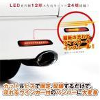 「J-CLUB レガンス」汎用LEDリフレクターx2(LED24個/流れるウインカー)車検対応品