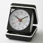 目覚まし時計 おしゃれ 目覚まし時計 アラーム アナログ トラベル ライト 置き時計 (ID-MLS470-BK)