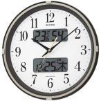 シチズン CITIZEN 掛け時計 アナログ 温湿度計 フィットウェーブリブ (4FYA07SR06) 特価25%OFF