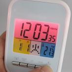 目覚まし時計 カレンダー表示付き 電波デジタルアラームクロック Annecy アヌシー