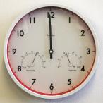 レムノス 掛け時計 掛時計 温湿度計付 電波 温湿度計付き LC09−11W 掛時計