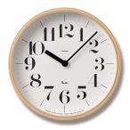 レムノス アナログ掛け時計 掛時計/掛時計/壁掛け時計 木製 掛け時計 ステップムーブメント 「RIKI CLOCK S」 渡辺 力 (TL-WR-0401S)