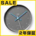 電波掛時計 掛け時計 電波時計 掛時計 壁掛け時計 ステップムーブメント メタル レムノス 「MIZUIRO(水色)」