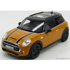 ミニクーパー ミニカー 1/18 ノレブ - MINI - NEW MINI COOPER S 2014 ORANGE BLACK by norev