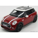 ミニクーパー ミニカー 1/18 ノレブ NOREV - MINI - NEW MINI COOPER S 2014 RED WHITE