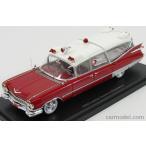 キャデラック 救急車 1959 ミニカー 1/43 NEO SCALE MODELS - CADILLAC - S&S SUPERIOR LANDAU AMBULANCE 1959 - CON BARELLA - WITH STRETCHER NEO45260