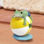 コポー Copeau かわいい カエルの置物 ビーチボールでぷかぷか かえる 蛙 雑貨 ガーデニング