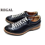 リーガル REGAL 靴 メンズシューズ  57RR AH クラシカル 本革 カジュアルシューズ レースアップ ネイビー