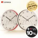 電波時計 温湿度計付 エアークロック Air clock タカタレムノス Lemnos クロックフックプレゼント