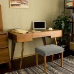 木製 デスク / Cino パソコンデスク PCデスク 学習机 机 ワークデスク 勉強机 机 作業机 desk 北欧 ミッドセンチュリー レトロ モダン オフィス家具 シンプル ウ