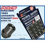 レイズ ジュラルミンロックナットセット  L32 ストレートタイプ  5H M12XP1.25 ガンメタ/スズキ