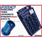 レイズ ジュラルミンロックナットセット  L42 ストレートタイプ  5H M12XP1.25 ブルー/スズキ