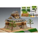 ウッディジョー/木製建築模型 1/150犬山城(改)+ジオラマ・塗料セット