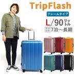 スーツケース 67cm Lサイズ 大型 約6日〜8日向き フレームタイプ TSAロック付 双輪キャスター搭載 1年保証付 B1116T-67