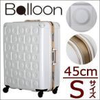 在庫一掃58%OFFセール 大容量スーツケース45cm フレームタイプ 小型 Sサイズ 約1日〜3泊向き TSAロック付 日乃本製キャスター搭載 1年保証付 BAL1028-45