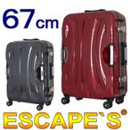 在庫一掃60%OFFセール グリップマスター搭載 スーツケース67cm Lサイズ 約7日〜長期向き 大型 フレームタイプ TSAロック付 双輪キャスター搭載 ESC1006-67