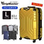 アウトレット 上下ハンドル グリップマスター搭載 スーツケース67cm Lサイズ 約7日〜長期向き 大型 フレームタイプ TSAロック付 双輪キャスター搭載 B5225T-67
