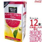 ミニッツメイド ピンクグレープフルーツ 100% 1L紙パック × 12本 (6本×2ケース) 業務用 濃縮果汁還元 コカ・コーラ Coca Cola