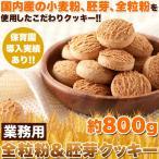 保育園に導入実績のあるこだわりクッキー!!業務用 全粒粉&胚芽クッキー800g