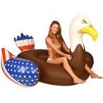 フロートKangaroo Pool Floats Bald Eagle Pool Raft 6.5 Ft