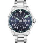 当店1年保証 ハミルトンH64715145 Hamilton KHAKI AVIATION PILOT AUTO Mens Watch Black Dial SS Bracelet
