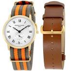 当店1年保証 フレデリックコンスタントFrederique Constant Slimline Gold Men's Watch FC235M4S5GRYOR + Extra Strap