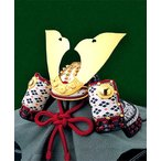 シャドーボックス/シャドウボックス キット/セット/材料/手芸用品 デコパージュ スタジオFeel(フィール)デザインの立体テキストシート 兜飾り S-038