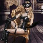 ハロウィンコスプレ 衣装 キャットスーツ 仮装 コスプレ ボンテージ エナメル B610